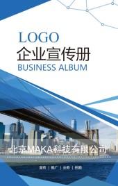 企业宣传 企业画册 商务蓝色招商手册 品牌宣传 产品介绍