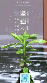 文艺清新企业文化精神日签手机海报