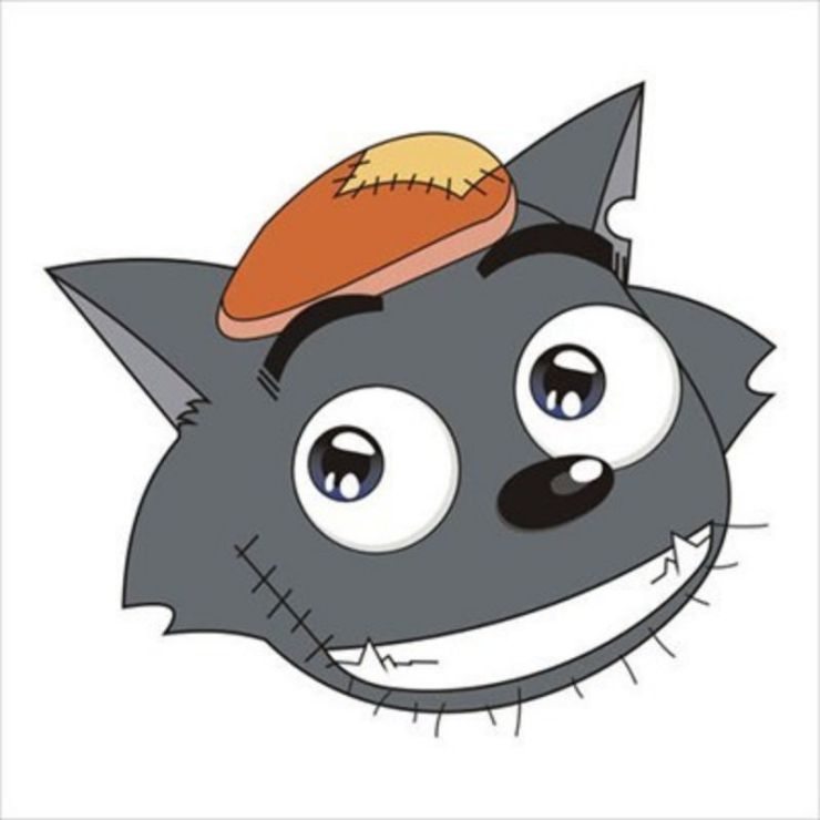 灰色卡通可爱灰太狼搞笑头像