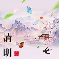 清新粉色清明节传统文化节公众号小图