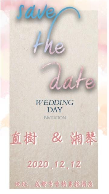 唯美简约婚礼邀请短视频