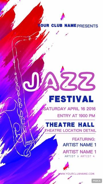爵士jazz派对音乐节音乐会活动宣传海报