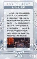 圣诞风企业会展产品发布峰会邀请函
