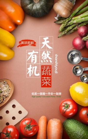 有机蔬菜 生鲜果蔬 新店开业 蔬菜水果店 清新