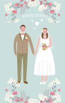 小清新婚礼邀请函,典雅婚礼邀请函,婚礼请柬,结婚请柬,婚礼,邀请函,简约大方