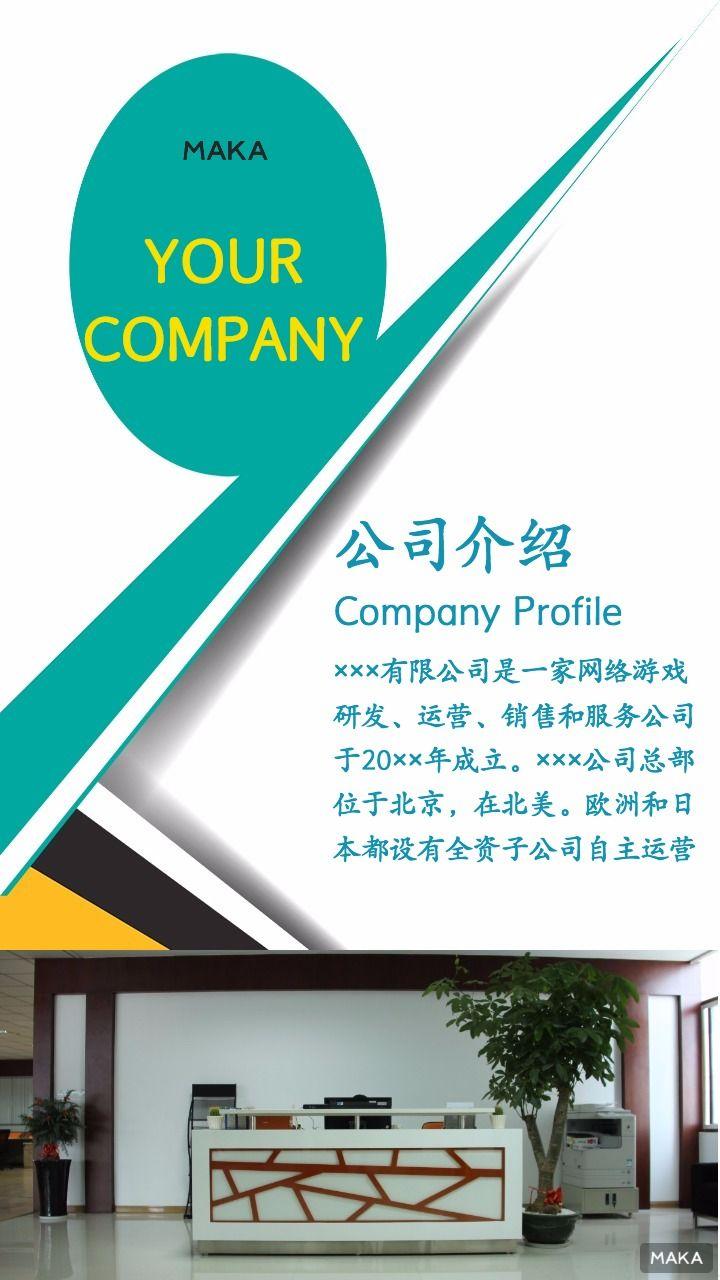 企业、公司介绍宣传海报
