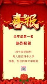 红色中国风公司企业单位学校高考贺报金榜题名喜讯喜报宣传海报模板