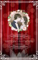 红色高贵典雅婚礼邀请函电子请柬