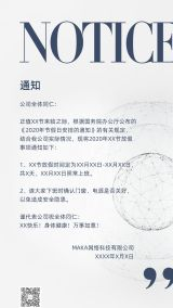 极简约高端时尚未来感 商务企业公司团体正式官方通知海报