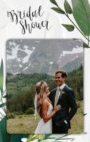 清新简约文艺高级感手绘绿植花体电子婚礼请柬 婚礼邀请函