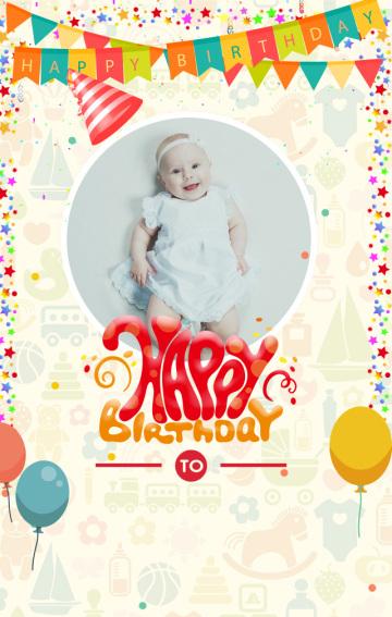 适合婴幼儿宝宝的生日贺卡