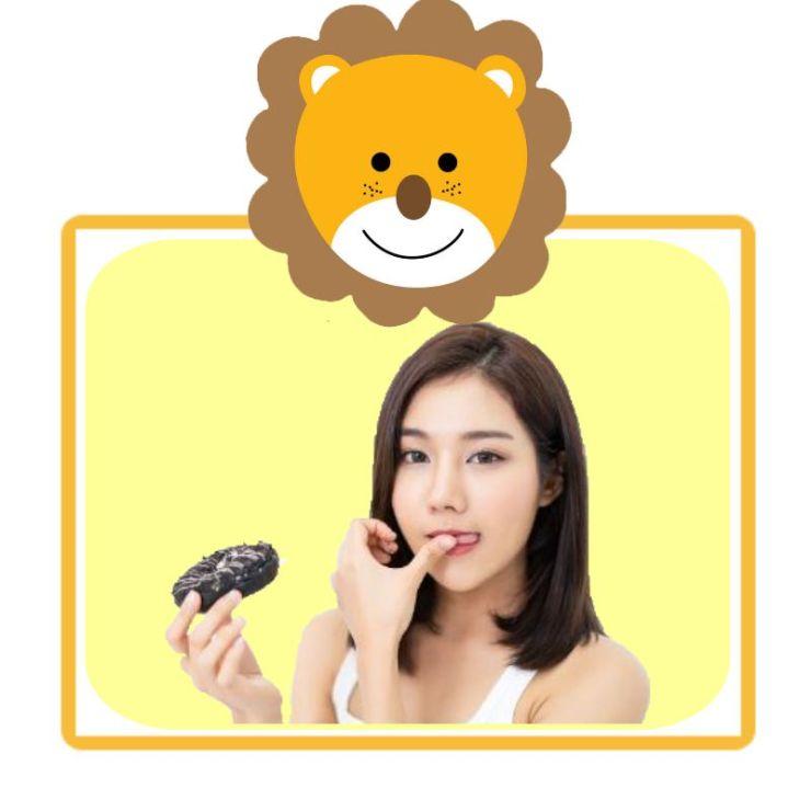 黄色超萌可爱卡通小狮子微信头像