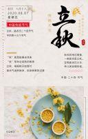 清新立秋节气宣传H5