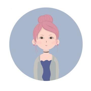 个性扁平手绘插画微信社交头像