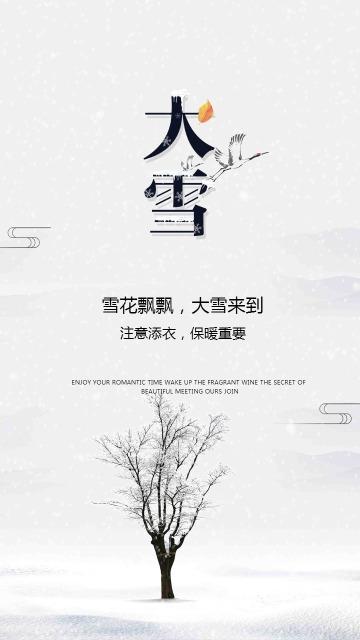 简约传统二十四节气大雪时节