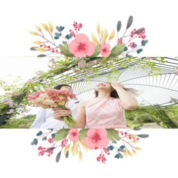 唯美花卉卡通社交头像