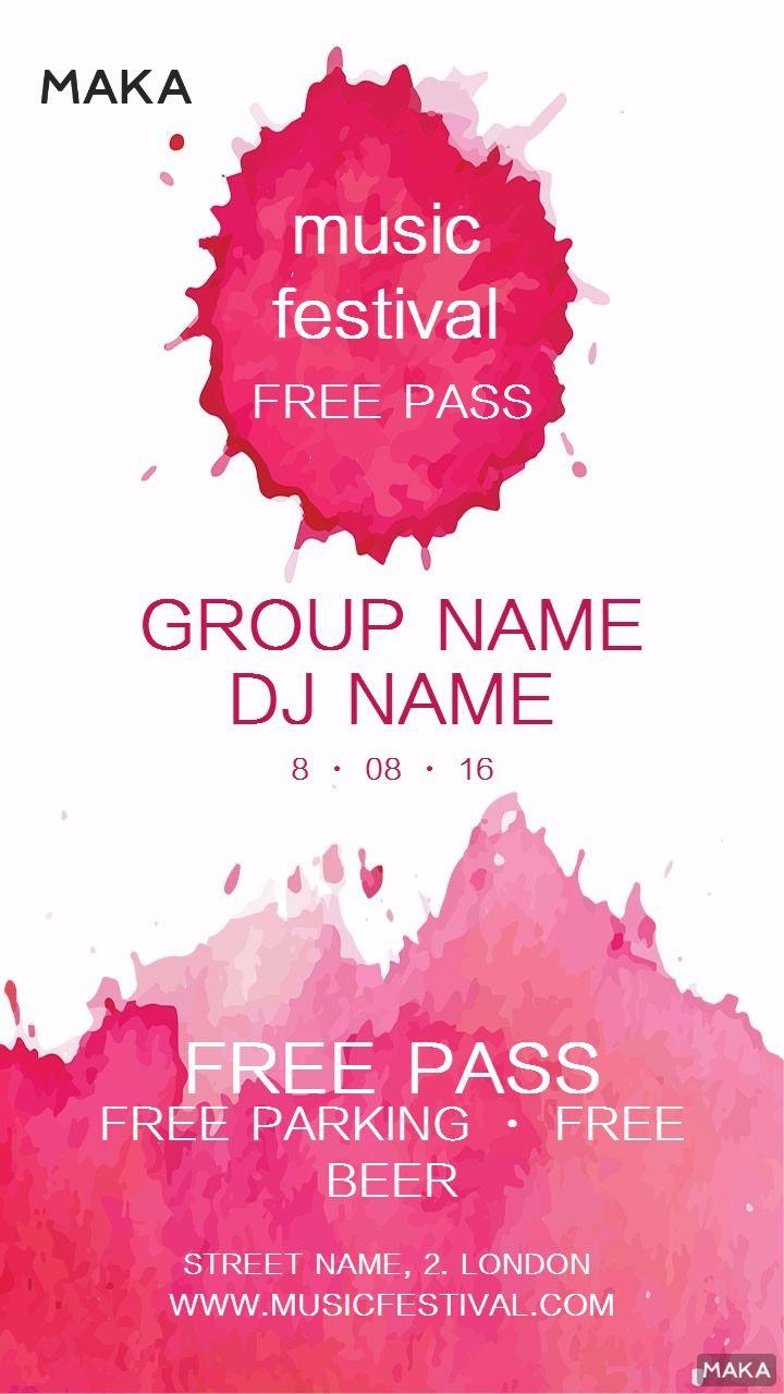 音乐节宣传海报设计