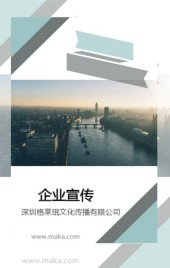 企业宣传蓝色莫兰迪简约公司介绍