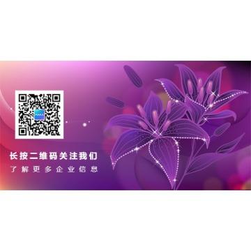 简约时尚蓝紫鲜花公众号底部二维码