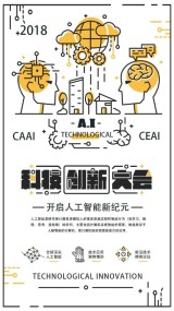白色简约创意科技创新大会人工智能海报