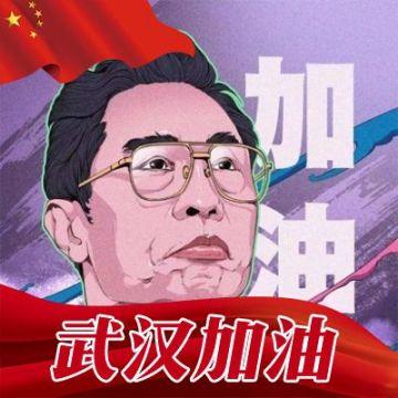 中国红国旗风钟南山院士助力武汉武汉加油微信头像框