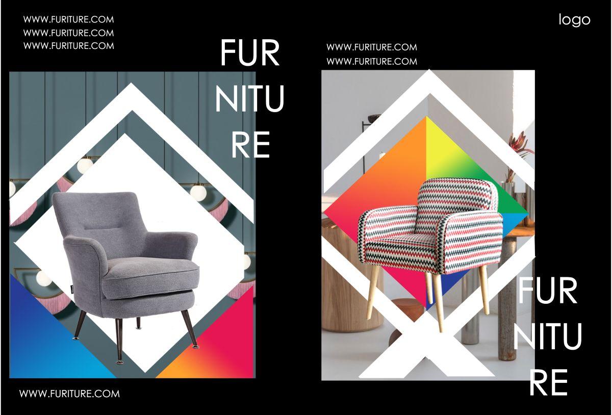 黑白简洁大方时尚家居产品宣传画册