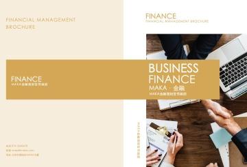 经典商务金融理财画册