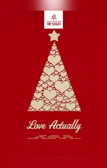 卓·DESIGN/圣诞节祝福贺卡企业个人通用情侣祝福平安夜表白告白企业宣传简介