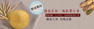 简约怀旧粮食电商产品宣传banner