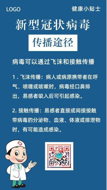 清新医疗卫生健康预防流感疫情防范呼吸病毒传染疾病知识宣传海报