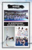 简约大气水墨中国风跆拳道培训招生宣传H5
