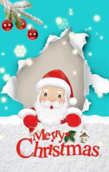 卡通 圣诞节 公司 企业 个人 祝福 贺卡 节日祝福卡 通用模板