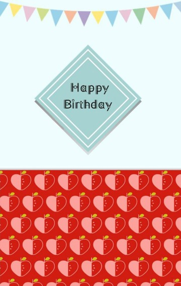 绿色可爱儿童生日邀请函H5