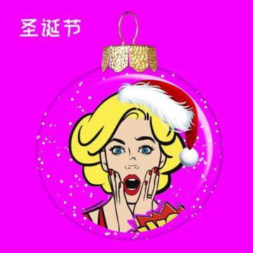 紫色圣诞主题梦幻球头像适合社交生活个性头像朋友圈封面
