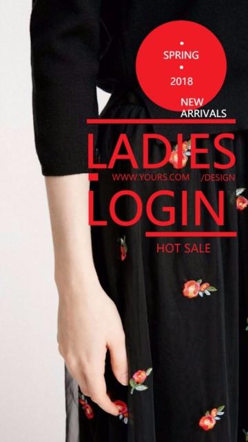 黑色时尚服装女装产品介绍宣传视频