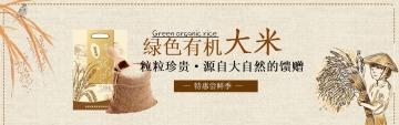 简约扁平粮食电商产品宣传活动推广banner