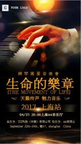钢琴独奏音乐会上海场宣传海报  生命的乐章