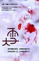 大雪 大雪节日宣传 二十四节气 大雪节日介绍 大雪习俗普及