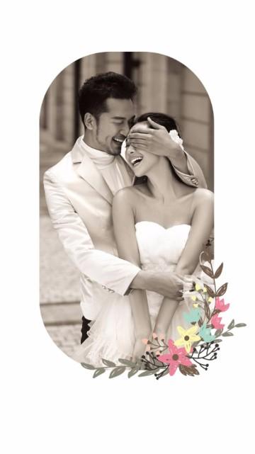 婚礼邀请函  简约小清新