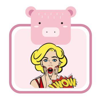 粉色小猪可爱动物边框头像水瓶座适合头像社交朋友圈封面