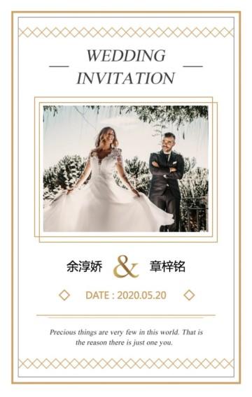 简约欧式时尚高端婚礼请柬婚礼邀请函H5