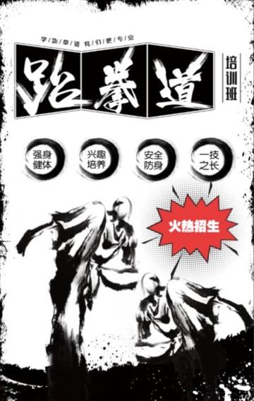 水墨风跆拳道招生通用H5模板