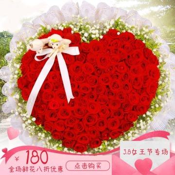 红色唯美3.8女王节促销宣传折扣活动通用商品主图