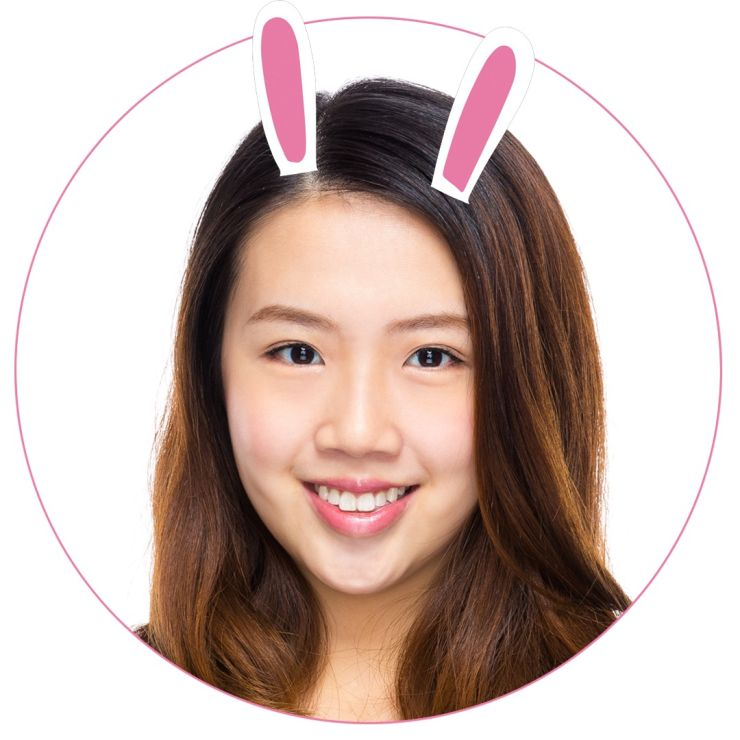 创意个性兔耳朵女生微信社交平台头像