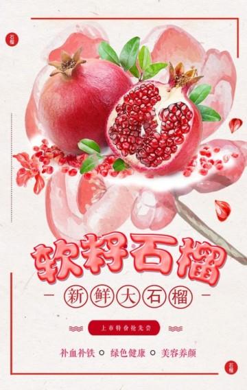 石榴/水果/面膜 /美妆/餐厅/果汁/奶茶店/
