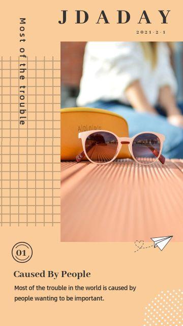 橙色简约大气欧美时尚艺术拼图海报