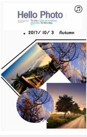 白色文艺旅行相册旅行游记纪念翻页H5