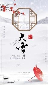 传统节气之大雪海报