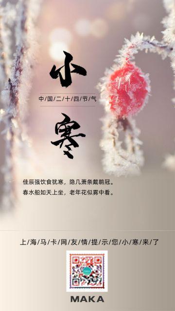 小寒24节气宣传海报