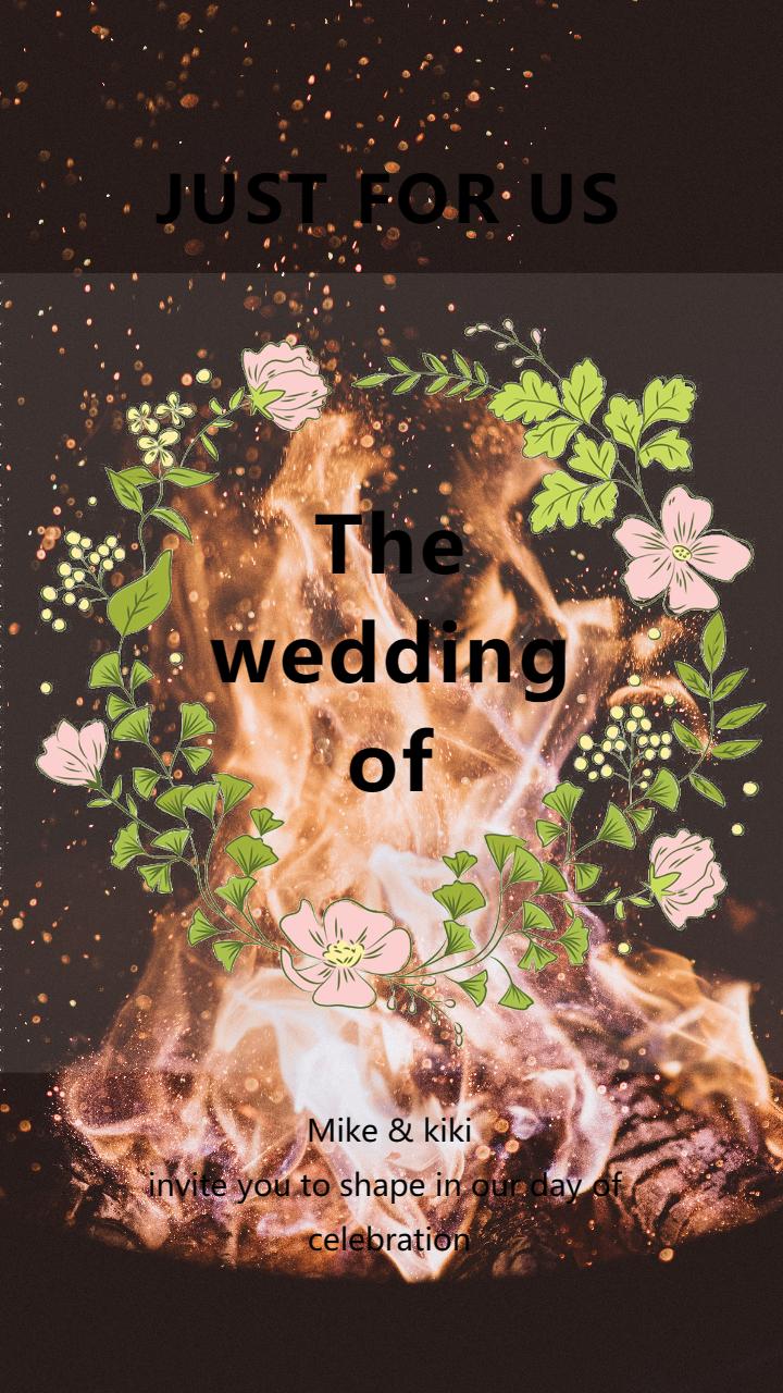 个人婚礼邀请平面海报宣传